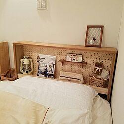 ベッド周り/ナチュラル/手作り/DIY/廃材...などのインテリア実例 - 2017-01-16 19:48:24