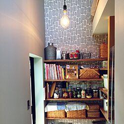 キッチン/冷蔵庫を隠したい!/冷蔵庫もココです/無印週間に行きたい/もっとシンプルにしたい…...などのインテリア実例 - 2016-11-19 11:49:02