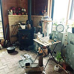 玄関/入り口/薪ストーブ/隠れ家/男の趣味部屋/暖炉...などのインテリア実例 - 2015-12-27 14:17:02