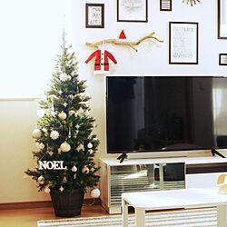 部屋全体/クリスマス/クリスマス準備/オーナメント/100均...などのインテリア実例 - 2019-11-26 14:00:31