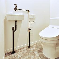 バス/トイレ/手洗い/配管むき出し/レトロ/オールドスタイルのインテリア実例 - 2019-03-12 15:22:07