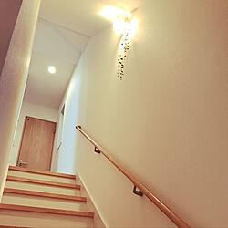 壁/天井/階段の壁/照明/ホワイトインテリア/フェイクグリーン...などのインテリア実例 - 2017-09-29 17:07:07