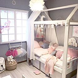 ベッド周り/カラーボックス/おもちゃ収納/ベッドDIY/2×4...などのインテリア実例 - 2017-11-05 08:26:02