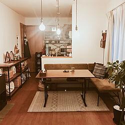 ダイニングセット/unico/IKEA/プロジェクター/journal standard Furniture...などのインテリア実例 - 2019-12-29 17:38:32