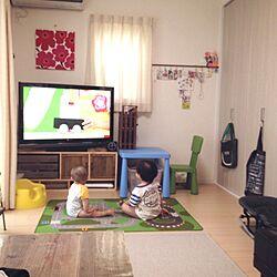 部屋全体/テイスト違う/生活感/テレビ台 DIYのインテリア実例 - 2013-10-14 19:32:22