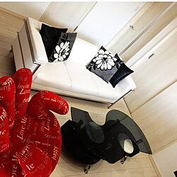 部屋全体/赤/red/Le Corbusier/black,white&redのインテリア実例 - 2014-10-05 20:47:56