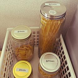 キッチン/保存瓶/パスタ/パスタ置き場/テプラでラベリング...などのインテリア実例 - 2018-04-19 12:42:24