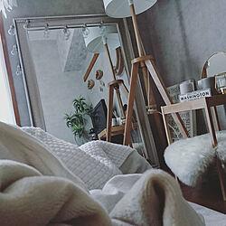 ベッド周り/癒しセット/IKEA/ニトリ/ベッドルーム...などのインテリア実例 - 2021-02-13 22:35:43