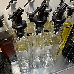 調味料ボトル/調味料入れ/100均/ビネガー&オイルガラスボトル/ダイソー...などのインテリア実例 - 2021-04-12 16:37:18