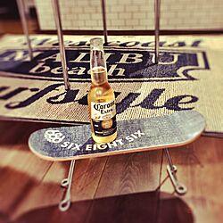 机/週末の楽しみ♪/キンキンのビール/スケボーテーブル/みなさんのインテリア参考に...などのインテリア実例 - 2016-09-09 21:15:01