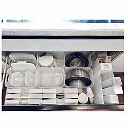 ゴミ袋収納/ボウル収納/ザル/ラップ収納/保存容器...などのインテリア実例 - 2019-04-09 05:54:51