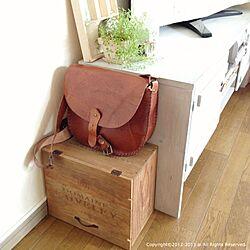 棚/DIY/革/収納/ワイン木箱...などのインテリア実例 - 2013-08-16 12:43:25