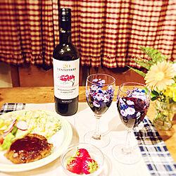 アサヒワイン/家飲み/お酒/いつもいいねやコメントありがとう♡/アメリカンカントリー☆...などのインテリア実例 - 2019-04-28 20:31:37