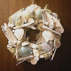 夏仕様に模様替え。/貝殻インテリア/玄関/入り口のインテリア実例 - 2015-07-08 00:01:39
