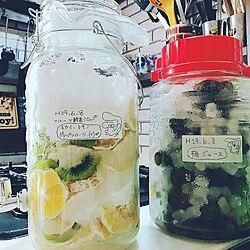 キッチン/手作りジュース/フルーツ酵素ジュース作りました♡/梅ジュース作ってます/夏バテ、熱中症に気をつけてね!...などのインテリア実例 - 2017-06-11 18:34:52