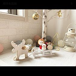 クリスマス/ドライフラワー/羊毛フェルト/インスタichica.05/100均...などのインテリア実例 - 2020-11-19 21:41:36