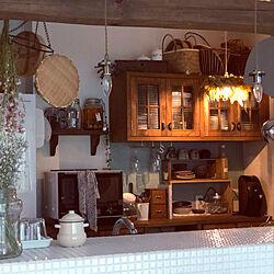 キッチン/琺瑯/照明/暮らし/花のある風景...などのインテリア実例 - 2020-04-18 14:45:45