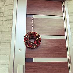 玄関/入り口/#リース/#クリスマスのインテリア実例 - 2017-12-14 09:42:57