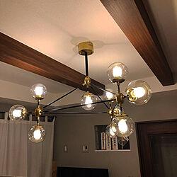リビング/折上天井/リビング/デザイン照明/インテリア照明...などのインテリア実例 - 2019-04-14 21:47:25