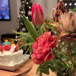 クリスマスツリー150cm/クリスマスごはん/おうちクリスマス/クリスマス/お花のある暮らし...などのインテリア実例 - 2020-12-25 23:12:18
