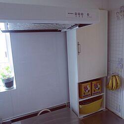キッチン/DIY/ガスコンロカバー/古いマンション/無印良品リメイクのインテリア実例 - 2015-09-23 11:00:07