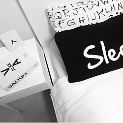 ベッド周り/sisdesign/mon・o・tone/IKEA/モノトーン...などのインテリア実例 - 2015-12-10 11:12:23