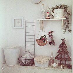 バス/トイレ/クリスマス雑貨/クリスマス/トイレのインテリア実例 - 2013-12-11 08:01:50