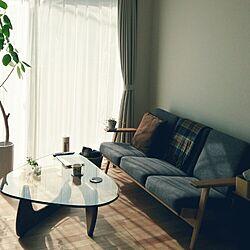 リビング/ソファー/ガラステーブル/植物/植物のある暮らし...などのインテリア実例 - 2015-11-11 12:23:13