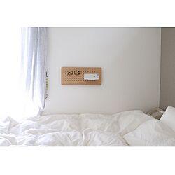 ベッド周り/有効ボード/Peg Wall/シンプルな暮らし/北欧インテリア...などのインテリア実例 - 2017-02-25 11:51:30