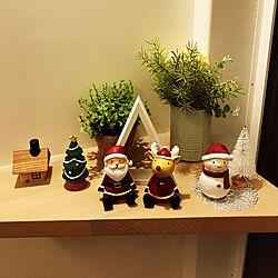玄関/入り口/玄関インテリア/玄関ディスプレイ/クリスマス飾り/クリスマス雑貨...などのインテリア実例 - 2020-11-23 21:01:04