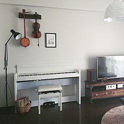 壁/天井/無印良品/DIY/音楽のある生活/ピアノ...などのインテリア実例 - 2017-02-26 09:04:13