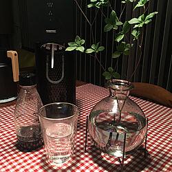 グリーンも置いて/チェックのテーブルクロス/お風呂上がり♡/ソーダストリーム/ボダムのグラス...などのインテリア実例 - 2020-08-03 08:22:39