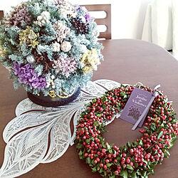 机/クリスマス/リース/ドームツリー/jardin de violettesのインテリア実例 - 2019-12-04 08:27:42