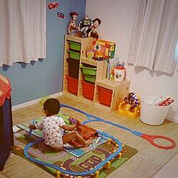 子供部屋☆/プラレール/トロファスト/IKEA♡/IKEAのインテリア実例 - 2014-07-25 02:13:19
