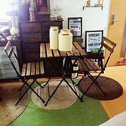 部屋全体/IKEA /男前×レトロ/円形ラグ/雑貨...などのインテリア実例 - 2014-04-29 09:08:49