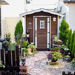 玄関/入り口/ガーデニング/小屋のある庭/小屋/手作りの庭...などのインテリア実例 - 2020-09-14 22:22:37