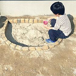 レンガ/ベルギーレンガ/DIY/抗菌砂/庭遊び...などのインテリア実例 - 2021-02-22 15:42:34