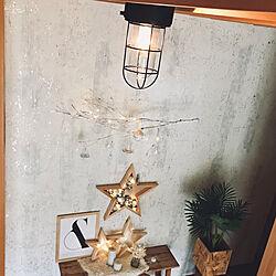 玄関/入り口/OSB鉢カバーDIY/ガラスオーナメント/枝ツリー/壁面DIY...などのインテリア実例 - 2018-12-11 08:12:23