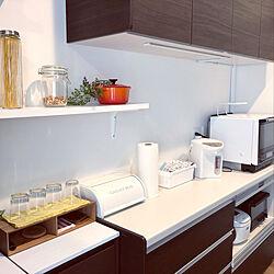 キッチン背面/キッチン収納/DIY/カフェ風/ニトリ...などのインテリア実例 - 2020-08-03 11:25:16