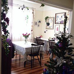 リビング/紫/クリスマス/ダイニング/パープル化計画...などのインテリア実例 - 2013-12-17 14:17:39