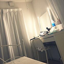 ベッド周り/白家具/ドレッサー周辺/IKEA/一人暮らし...などのインテリア実例 - 2018-07-27 01:22:36