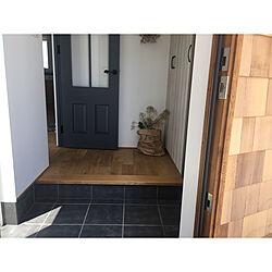 玄関/入り口/スモークツリー/造作ドア/玄関/植木鉢のインテリア実例 - 2018-06-16 12:33:28