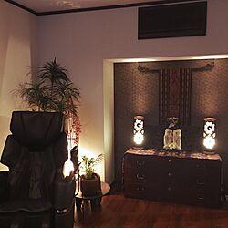 部屋全体/石像/私のくつろぎ空間/くつろぎ空間/わが家の明かり...などのインテリア実例 - 2017-07-07 22:58:41