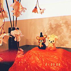 ひな祭り/ハンドメイド/リビングのインテリア実例 - 2021-03-03 21:03:41