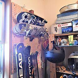 スケートボード/土間収納/有孔ボード/ベニヤ板/ヘルメット...などのインテリア実例 - 2021-07-19 23:16:54