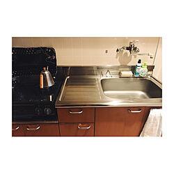 キッチン/掃除/ミニマリストになりたい/一人暮らし/1K...などのインテリア実例 - 2018-02-24 05:35:02
