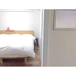 ベッド周り/4.5帖/4.5畳/目覚まし時計/室内窓DIY...などのインテリア実例 - 2019-01-10 16:54:07