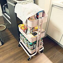 RÅSKOG/キッチンワゴン/ピンク/ロースコグ/IKEA...などのインテリア実例 - 2019-12-14 20:31:56