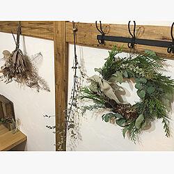 壁/天井/リース/クリスマス/暮らし/DIY...などのインテリア実例 - 2017-11-22 09:47:25