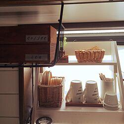 キッチン/キッチン出窓/吊り戸棚/お茶セット/木の箱...などのインテリア実例 - 2015-06-28 08:19:15